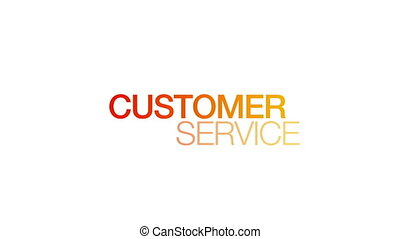 Animated Customer Service Word Illustration. Kinetic Typography.