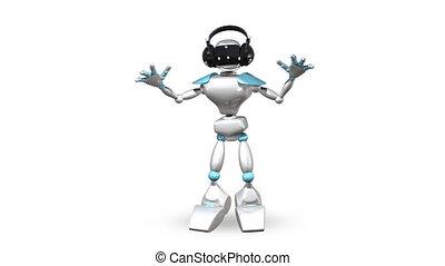 Animated Dancing Robot