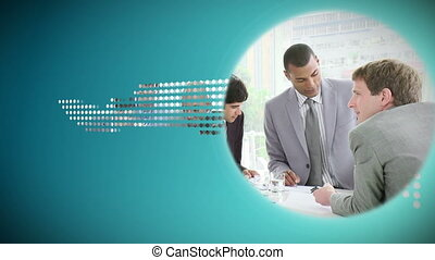 Animated discs about business