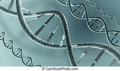 Animated DNA strands. Loop-able 4K - An Animation of DNA...