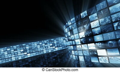 Animated glamorous bright video wall. Loop-able. 3D...