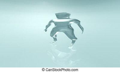 Animated growing liquid human 4K - An animation of a growing...