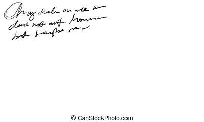 Animated Handwriting Design 2 - Animation of fast...