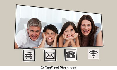 Animated interface about families