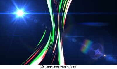 Animated lines with lens flare