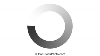 Animated loading icon. 4K resolution. Stock video on a black background.