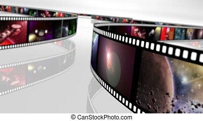 Animated loop-able rotating film reels 4K - Loop able...