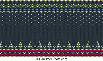 Animated looped Knitted Scandinavian colored horizontal...