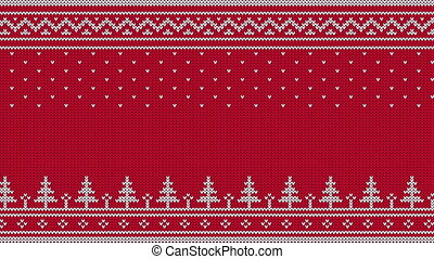 Animated looped knitted sweater ornament - spruce, falling...