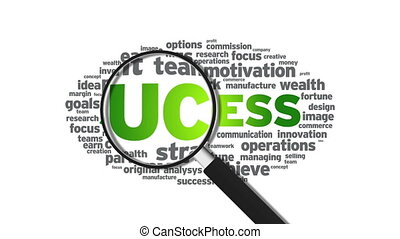 Success - Animated Magnified Success Illustration