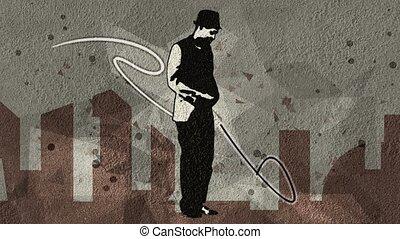 Animated man dancing