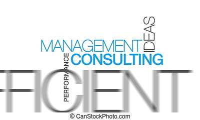 Animated Management Consulting word cloud