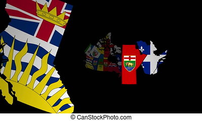 Animated map of administrative divisions in Canada - ...