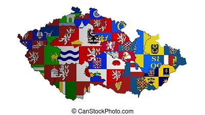 Animated map of administrative divisions in Czech Republic...