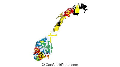 Animated map of administrative divisions in Norway - ...