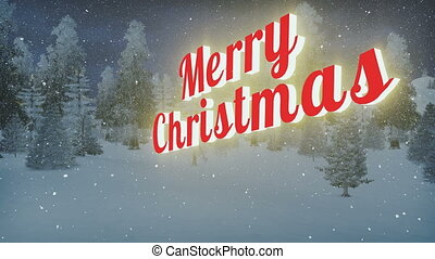 Animated Merry Christmas text - Animated glowing Merry...