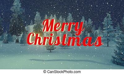 Animated Merry Christmas text - Animated red Merry Christmas...