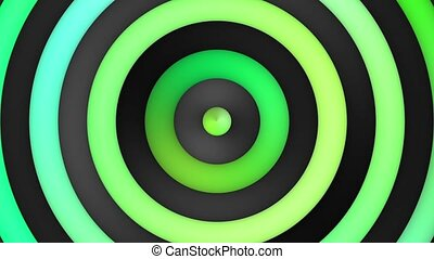 Animated Multicolor Green Gradient Stripes And Circles Loop