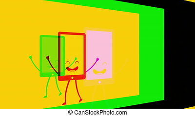 Animated office tools design, Video Animation