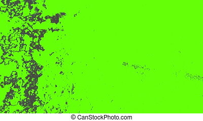 Animated old film effect on green screen loop edited frame by frame