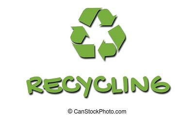 """Animated recycling logo with """"green"""" slogan - Recycling -..."""
