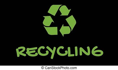 "Animated recycling logo with ""green"" slogan - Recycling -..."