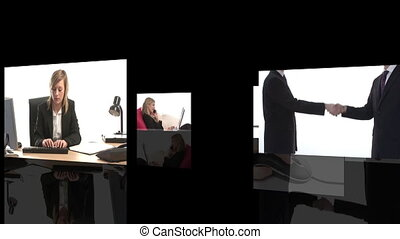 Business Team at Work - Animated Seamless Loop of a...