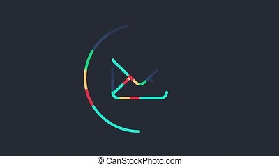 Animated Sending Email Symbol - Outline animated sending...