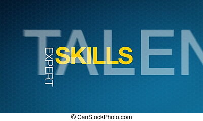 Animated Skills illustration. Kinetic Typography.