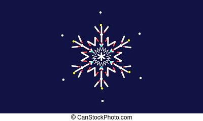 Animated snowflakes,text