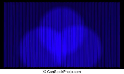 Animated Stage Curtains