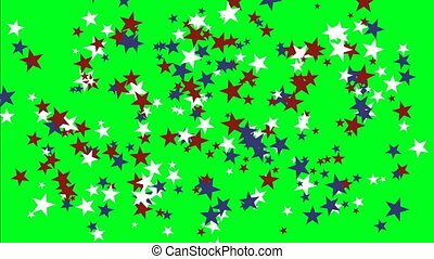 Animated stars on green screen