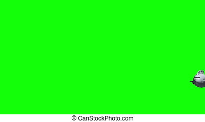 Animated submarine before green screen - Animation of a...