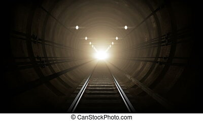 Animated subway tunnel, loop-able. 4K - A loop-able 4K...