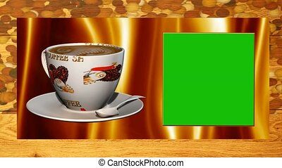 animated template advert for coffee shop with a green screen...
