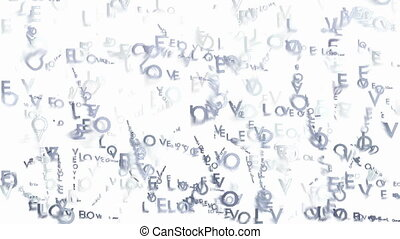 Animated words Love monochrome - Abstract blurred monochrome...