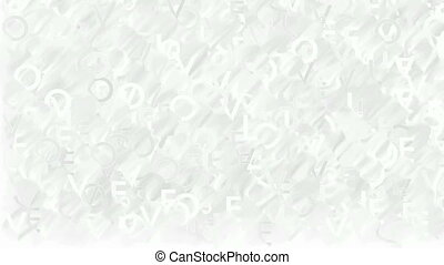 Animated words white background - Abstract blurred...