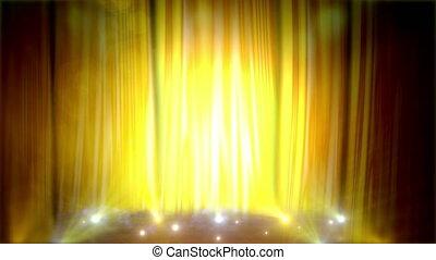 Animated Yellow Scene.