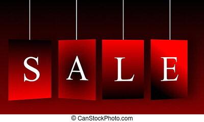 animatie, aankondigen, sales., concept, van, shoppen