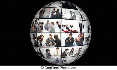 animatie, businesspeople, 3d