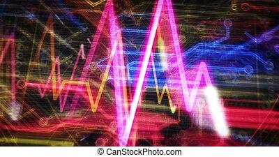 animatie, cyber, hart, futuristisch