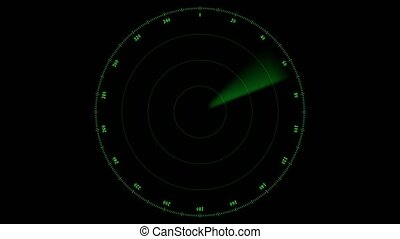 animatie, -, een, groene, straal, rennende , op, de, scherm,...