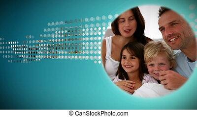 animatie, over, gezin
