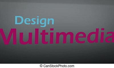animatie, over, multimedia, concepten