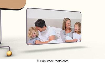 animatie, van, families