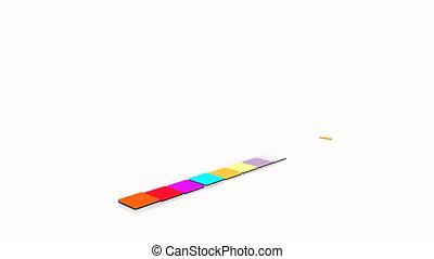animatie, van, grafiek
