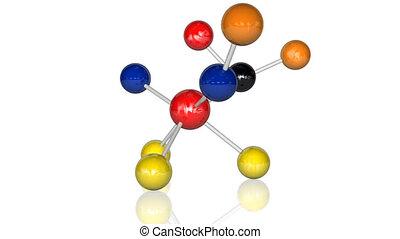 animatie, van, molecules