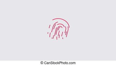 animatie, vinger afdruk, onderzoeken nauwkeurig,...