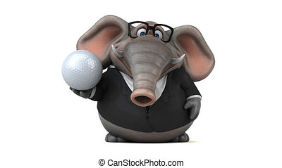 animation, éléphant, amusement, 3d, -