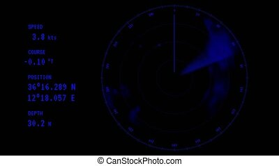Animation - a blue ray running on the radar screen